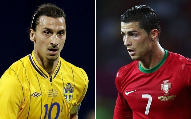 World Cup 2014 play-off draw places Zlatan Ibrahimovic and Cristiano Ronaldo together as Portugal face Sweden