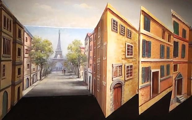 3D artwork of Paris plays tricks with the mind