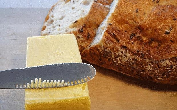 Inventors develop knife that grates butter before spreading
