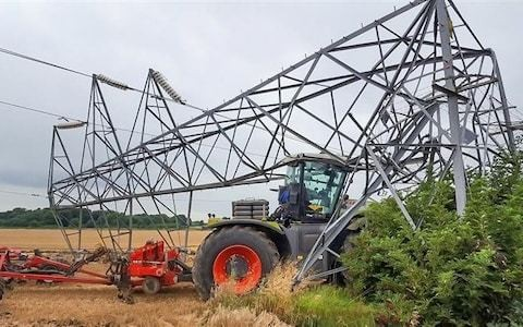 Farmers using GPS 'auto-steer' tractors are causing power outages by colliding with overhead lines