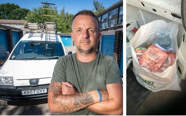 Roofer fined £300 for carrying sandwich wrappers and crisp packets in his van