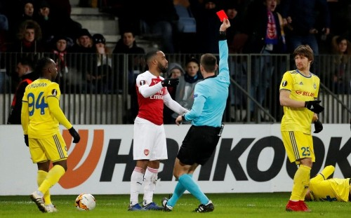 Arsenal handed blow as Alexandre Lacazette receives additional two-match Europa League ban