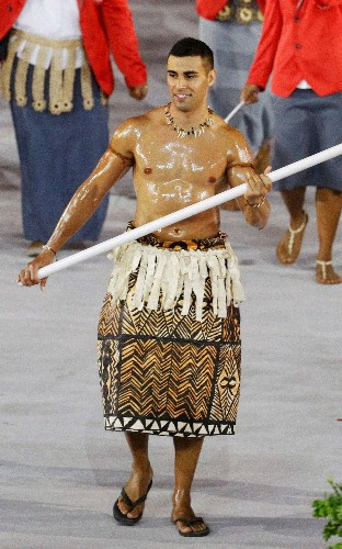 Opening Ceremony: Who is Tonga's bare-chested flag bearer?