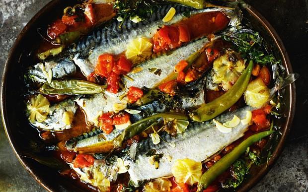 Rick Stein's blue fish stew with chilli cornbread recipe