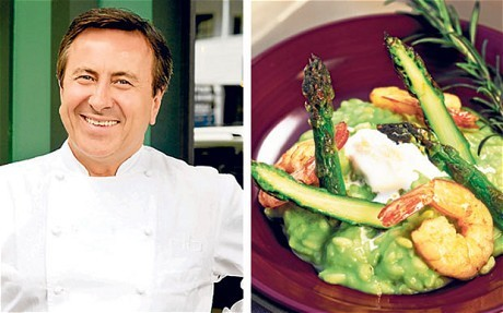 My favourite dish: Daniel Boulud's asparagus and prawn risotto