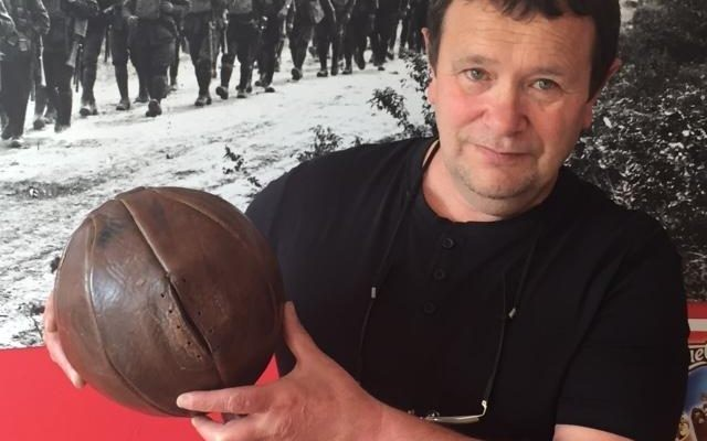 'Priceless' football kicked by British WWI soldiers set to return to UK after 100 years - with Manchester United favoured to buy it