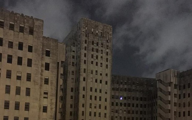 Ghostly 'Christmas tree' in abandoned Charity Hospital spooks social media