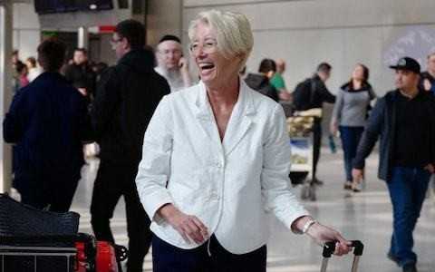 Emma Thompson accused of hypocrisy as she takes overnight flight from LA to take part in Extinction Rebellion protest