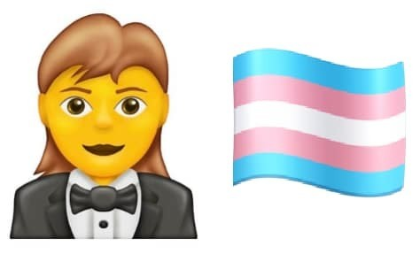 Woman in a tuxedo and transgender flag among new emoji for 2020