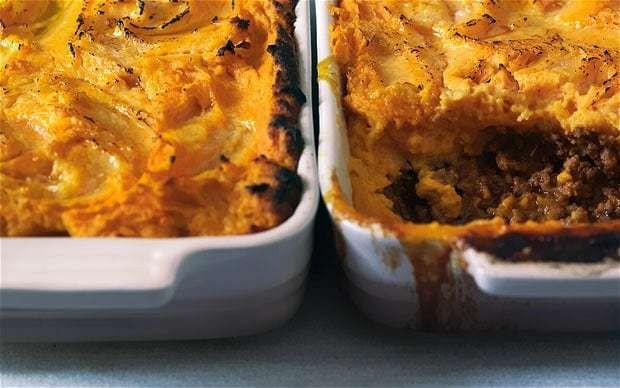 Spiced lamb and sweet potato pie recipe