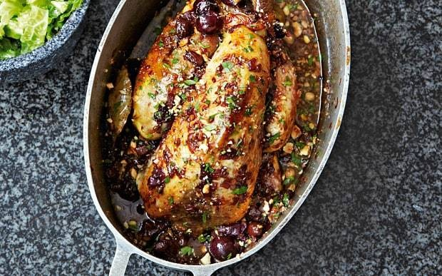 Georgian-style guinea fowl with grapes recipe