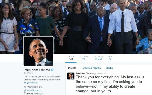 The real Tweeter-in-chief: Barack Obama's 'thank you' post his most popular ever