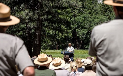 Barack Obama warns of climate change threat to US national parks