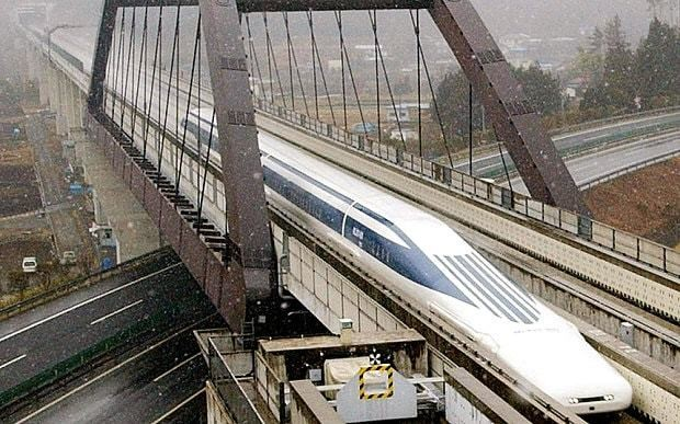 Japan's magnetically levitated vehicle train sets new speed record