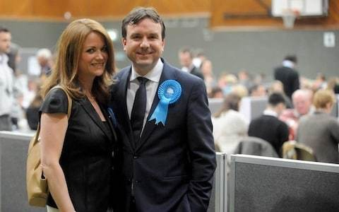 Sex text Tory minister bows out of election contest but backs wife for seat