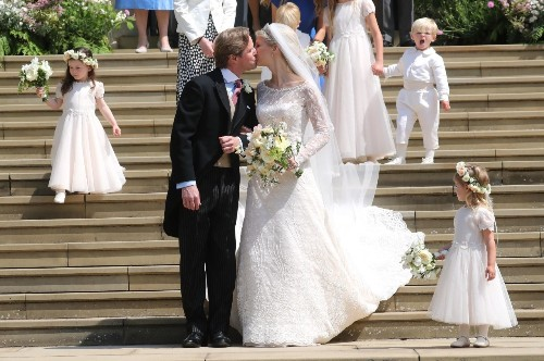 Lady Gabriella Windsor and Thomas Kingston's royal wedding: couple share a kiss after marrying in St George's Chapel