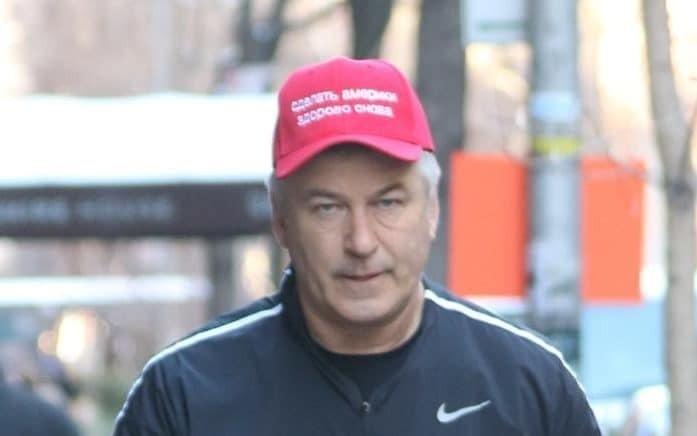 Alec Baldwin mocks Donald Trump with Russian 'make America great again' baseball cap