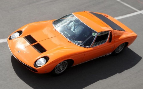 Lamborghini Miura celebrated at the Silverstone Classic