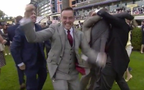 Pc caught 'throwing a sickie' after he is seen celebrating Royal Ascot win live on TV