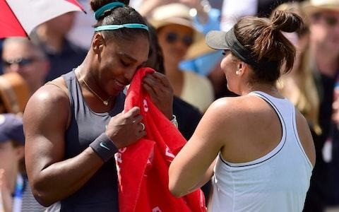 US Open fears for tearful Serena Williams as injury retirement hands Bianca Andreescu Rogers Cup title