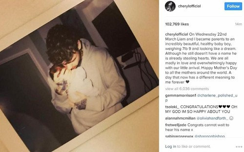 Baby joy for former X Factor judge Cheryl and One Direction star Liam Payne