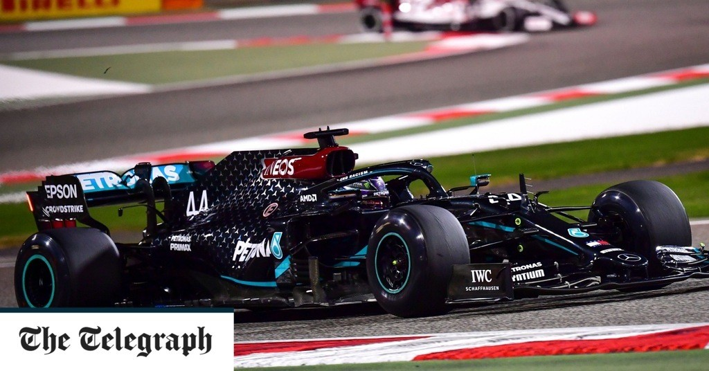 Lewis Hamilton tops Bahrain Grand Prix practice as Alexander Albon crashes heavily