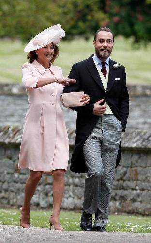 Carole Middleton wears Catherine Walker & Co. to Pippa Middleton's wedding
