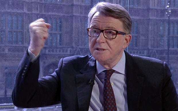 Britain should not join euro, Lord Mandelson finally admits