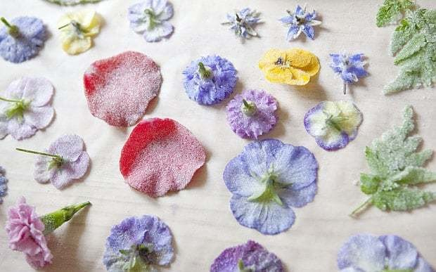 How to crystallise flowers like the Victorians