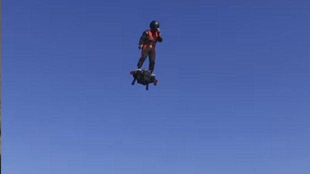 Watch this real flying hoverboard travel 34 mph