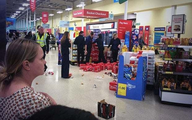 Tesco store trashed by Gaza protesters