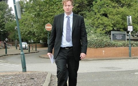 Hedge fund husband told disabled wife to leave her crutches behind to stop them losing clients, court hears as he is accused of abuse