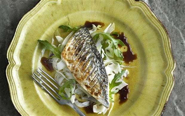 Fillet of mackerel with fennel and soy lime glaze