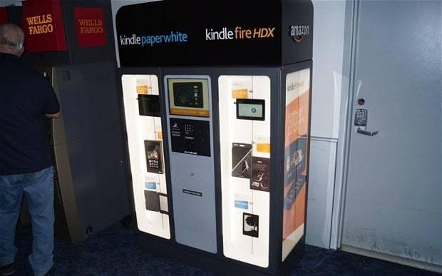 Amazon trials Kindle vending machines
