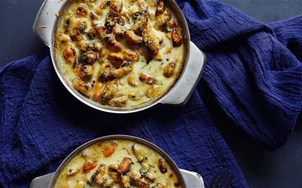 Mussel, ginger and lemongrass gratin