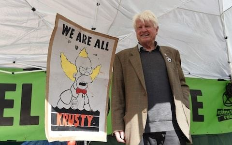 Extinction Rebellion: Boris Johnson's father tells protesters it's a 'tremendous compliment' to be called an 'uncooperative crusty'