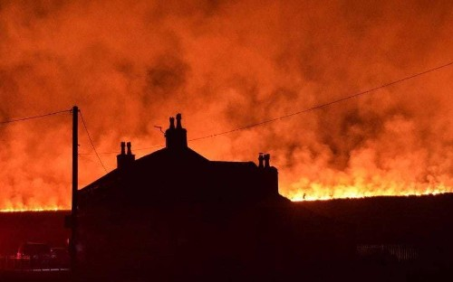 Devastating wildfires becoming 'normal' as UK countryside gets drier