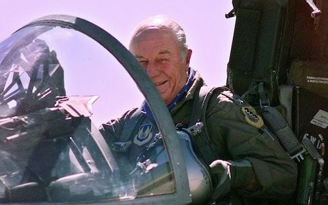 WWII flying ace Chuck Yeager in extraordinary attack on 'nasty' and 'arrogant' British people