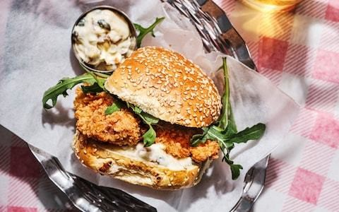 Milanese-style fried chicken burgers recipe