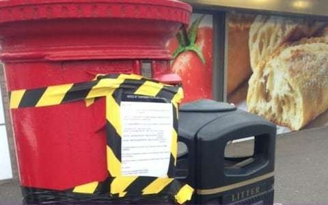 Postboxes sealed up over 'security fears' after postman loses keys