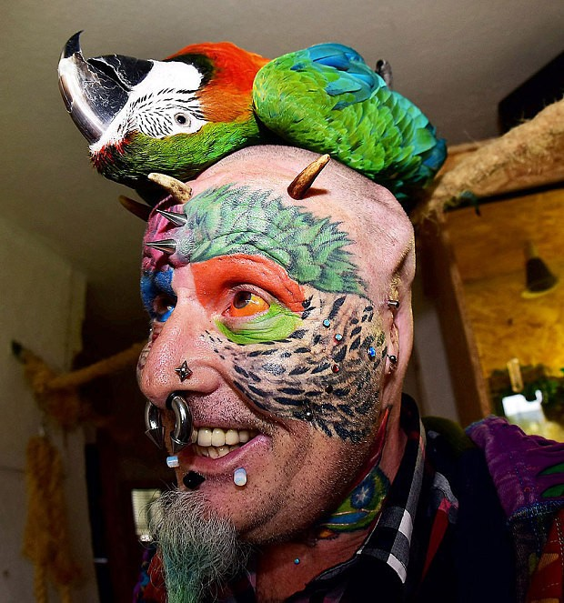 Man who cut off his ears to look like a parrot goes on The Jeremy Kyle Show and says 'it's normal'