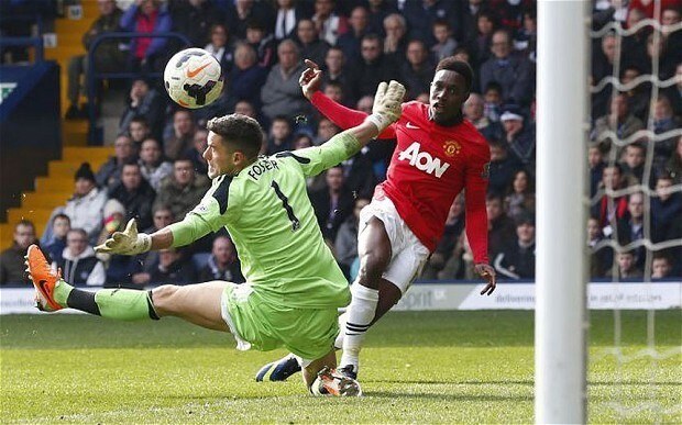Danny Welbeck takes his opportunity for Manchester United in place of a petulant Robin van Persie