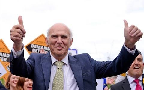 Liberal Democrats 'back in business' as huge EU elections gains set them on course to beat Tories and Labour