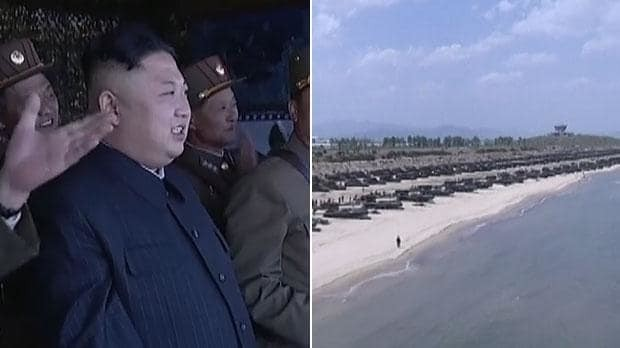 Kim Jong-Un oversees North Korea's largest ever Combined Fire Demonstration