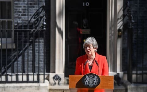 Sterling struggles after Theresa May quits