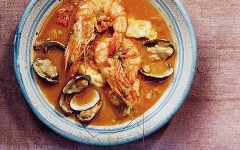 Sopa bullabesa de Almeria (Spanish seafood stew) recipe