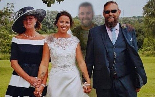 Bride whose brother died weeks before wedding has him added to 'miracle' pictures