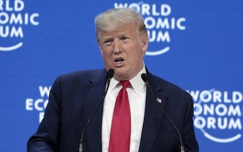 Donald Trump just gave the most incredible speech at Davos... and it went a little something like this