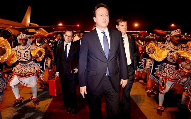 David Cameron tackles Sri Lankan 'human rights abuses'