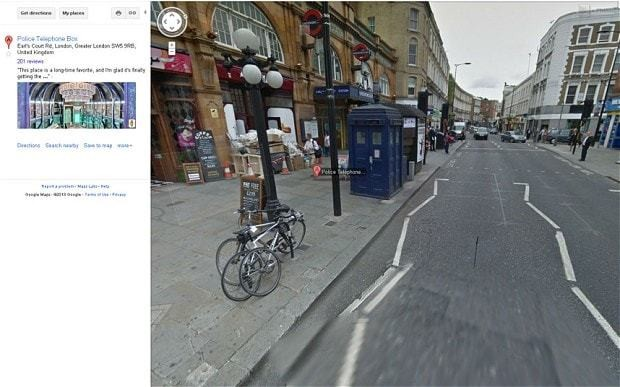 Google Street View looks inside the TARDIS